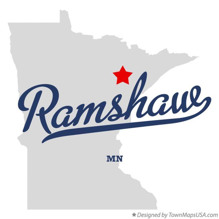 Map of Ramshaw Minnesota MN