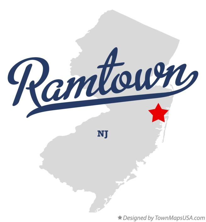 Map of Ramtown New Jersey NJ