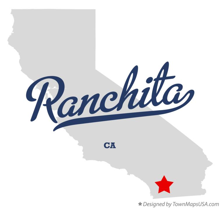 Map of Ranchita California CA