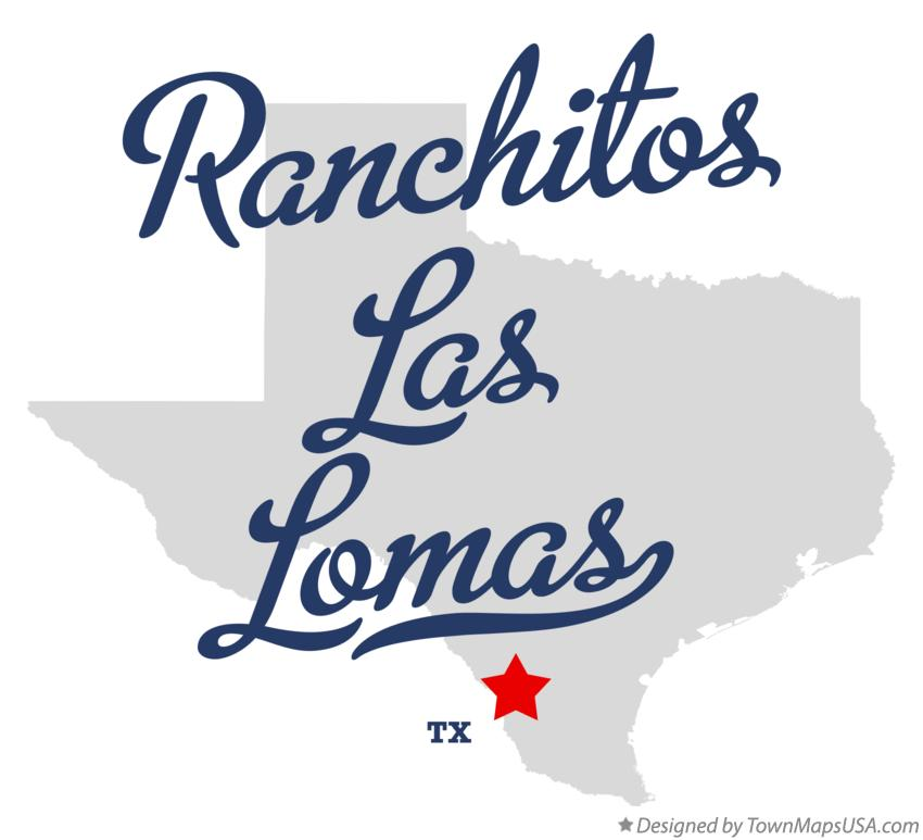 Map of Ranchitos Las Lomas Texas TX