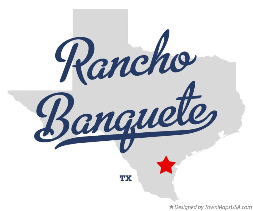 Map of Rancho Banquete Texas TX