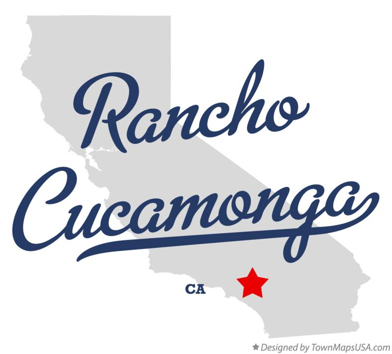 Map of Rancho Cucamonga California CA