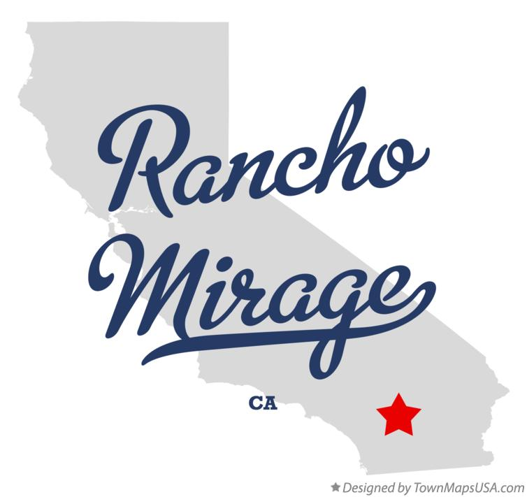 Map of Rancho Mirage, CA, California