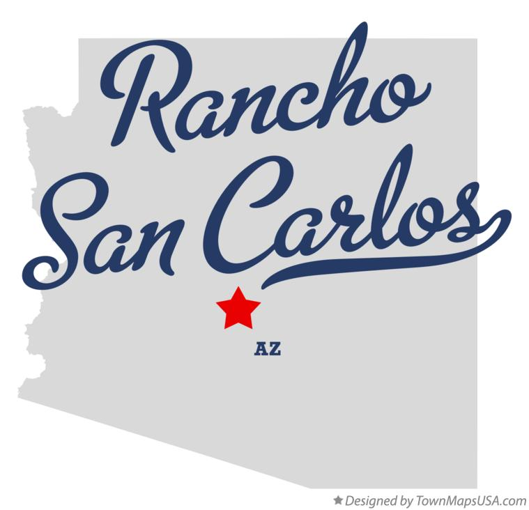 Map of Rancho San Carlos Arizona AZ