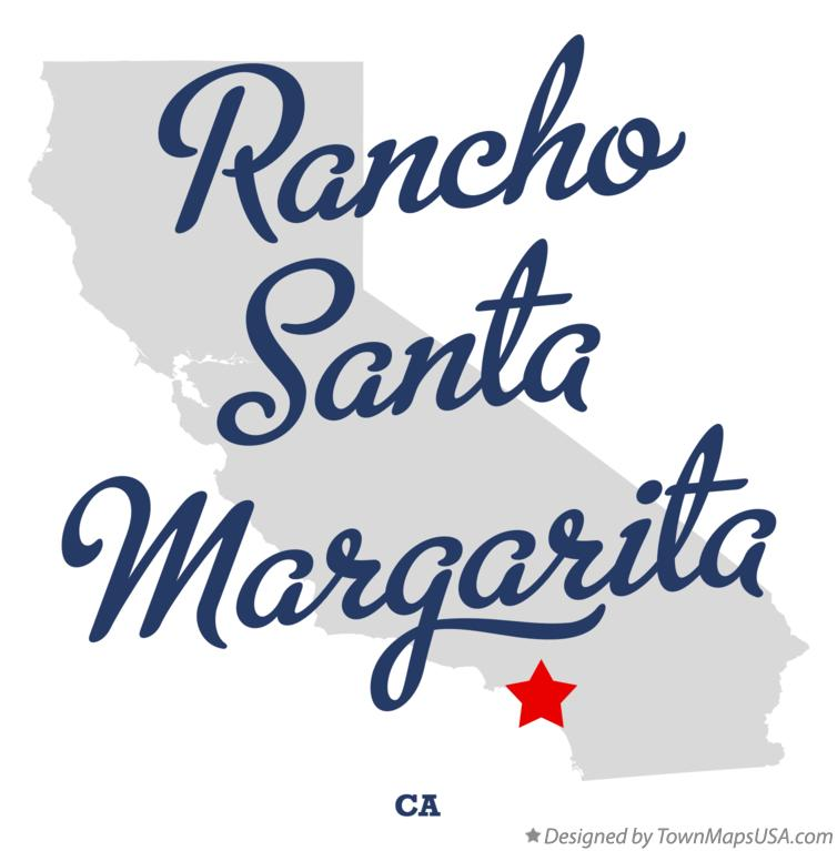 Map of Rancho Santa Margarita California CA