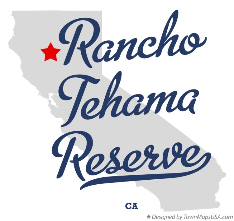 Map of Rancho Tehama Reserve California CA