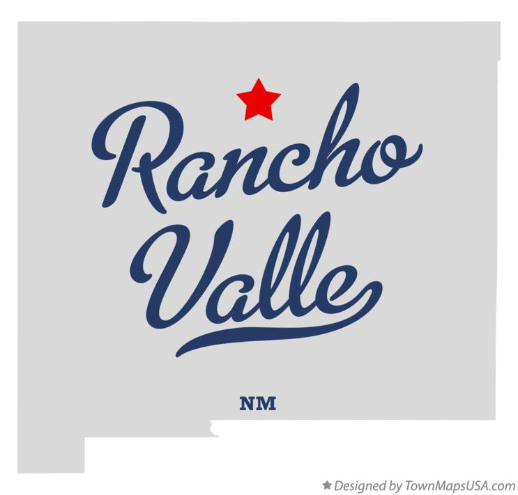 Map of Rancho Valle New Mexico NM