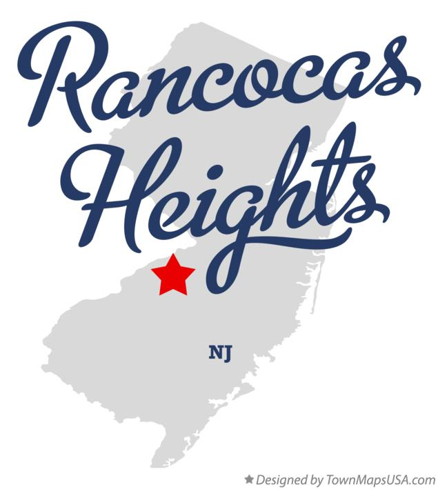 Map of Rancocas Heights New Jersey NJ