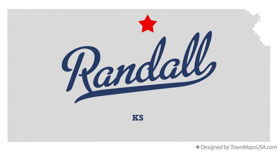 Map of Randall Kansas KS