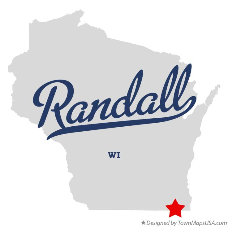 Map of Randall Wisconsin WI