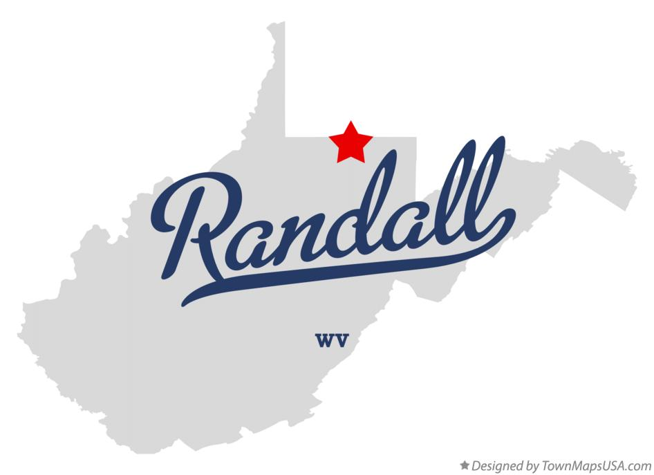 Map of Randall West Virginia WV