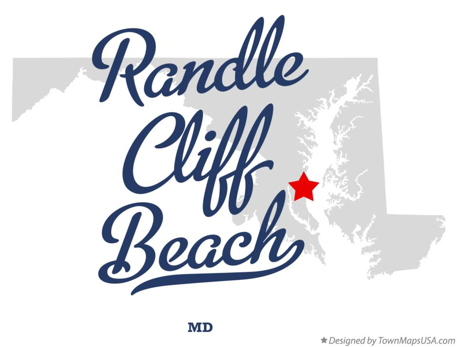 Map of Randle Cliff Beach Maryland MD