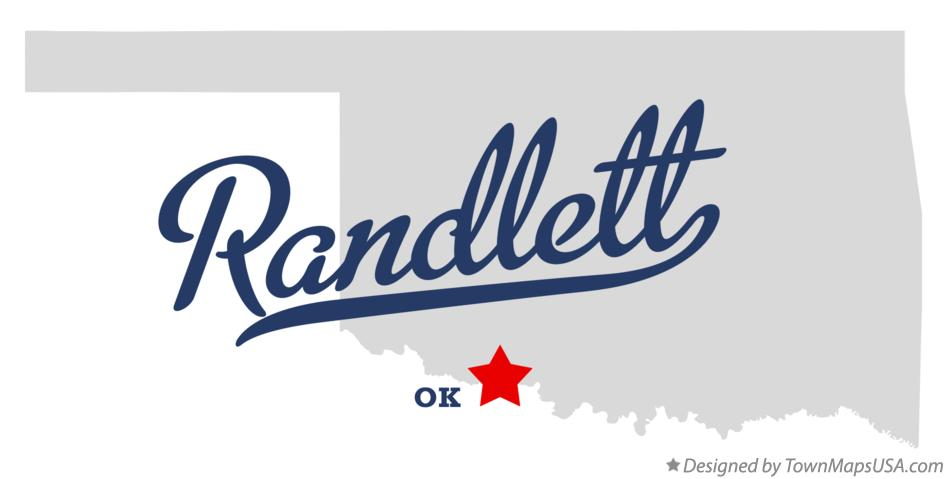 Map of Randlett Oklahoma OK