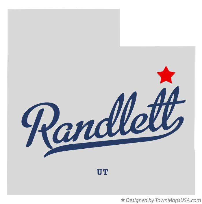 Map of Randlett Utah UT