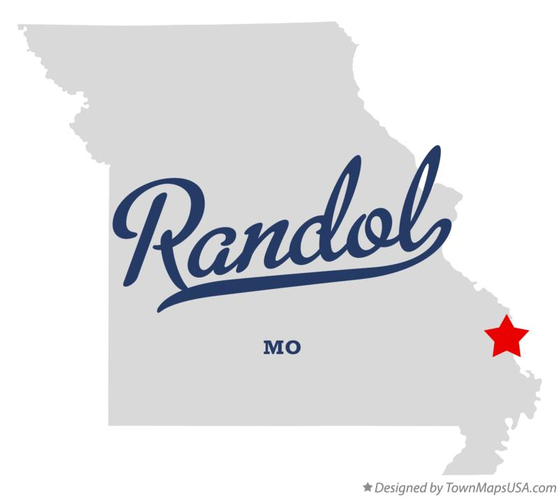 Map of Randol Missouri MO