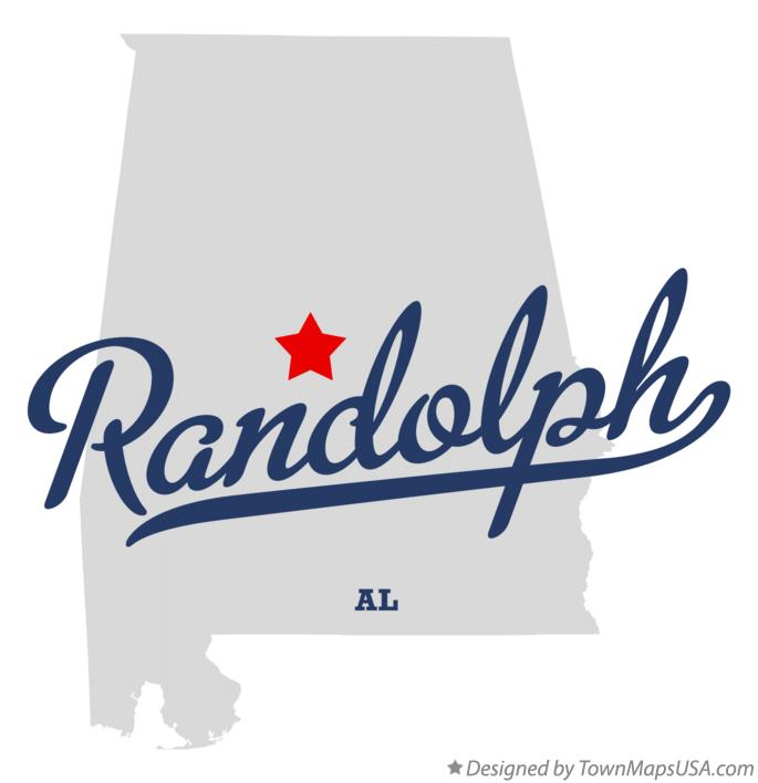 Map of Randolph Alabama AL