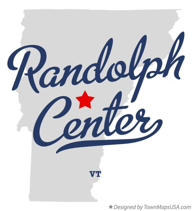Map of Randolph Center Vermont VT
