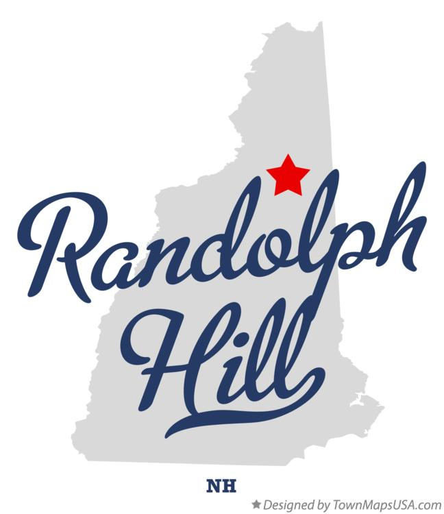 Map of Randolph Hill New Hampshire NH