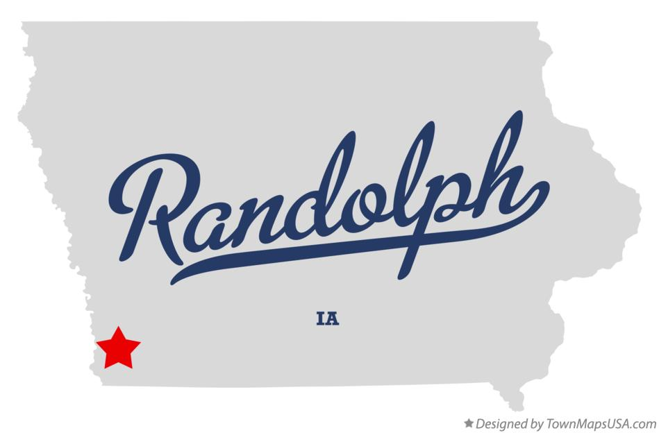 Map of Randolph Iowa IA