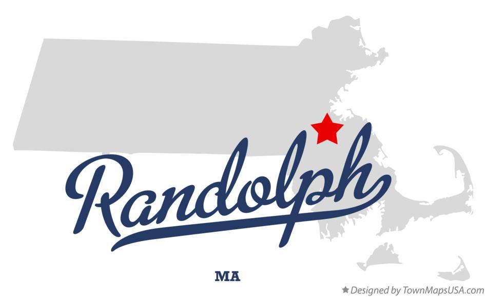 Map of Randolph Massachusetts MA