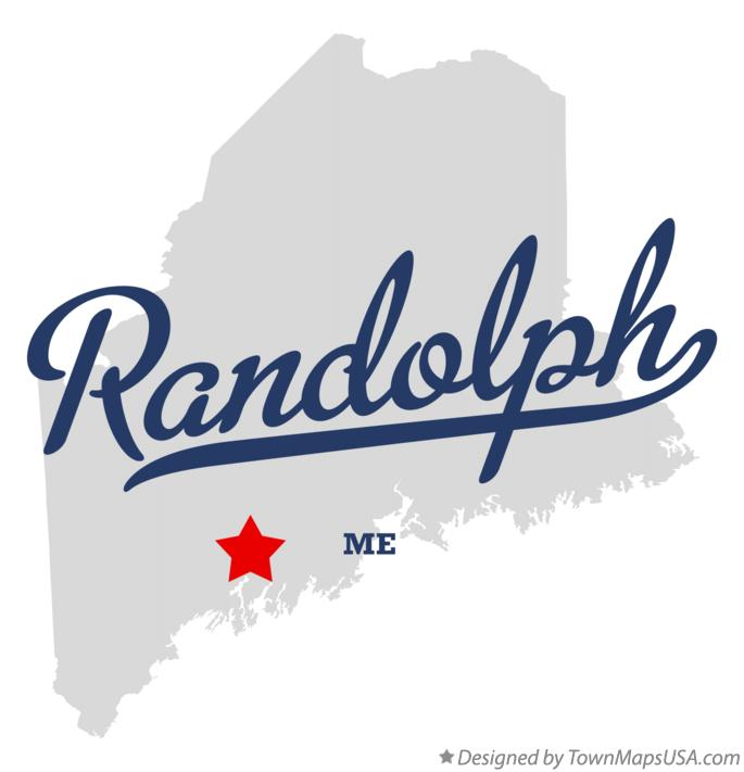 Map of Randolph Maine ME