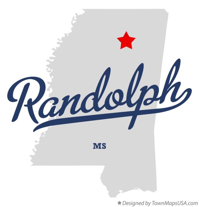Map of Randolph Mississippi MS