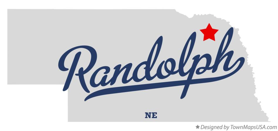 Map of Randolph Nebraska NE