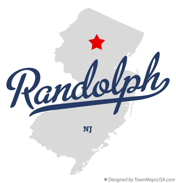 Map of Randolph New Jersey NJ