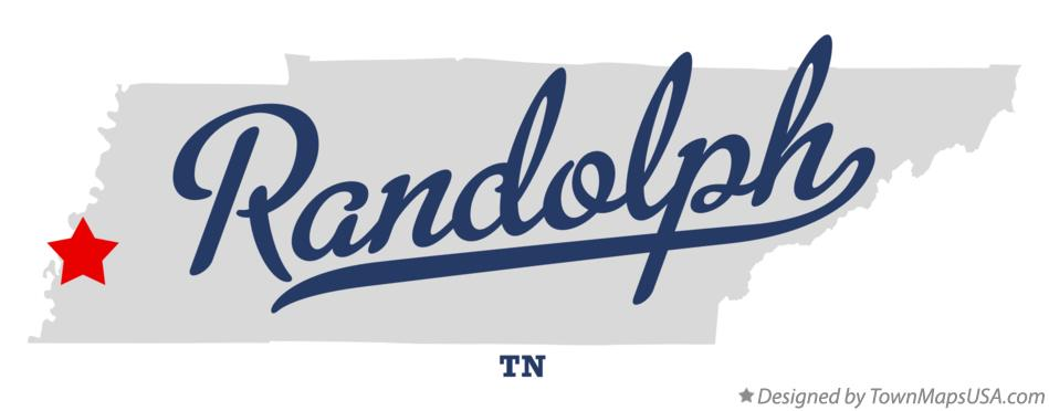 Map of Randolph Tennessee TN