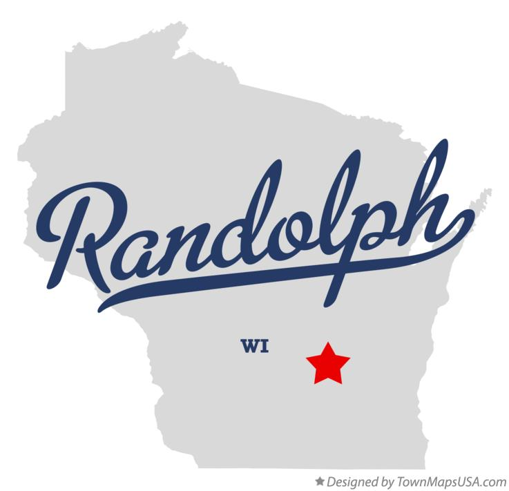 Map of Randolph Wisconsin WI