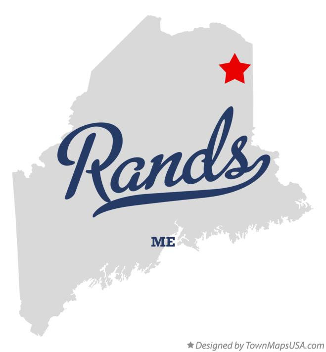 Map of Rands Maine ME