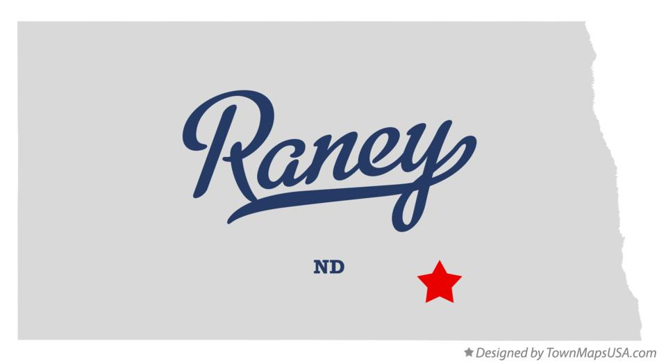 Map of Raney North Dakota ND