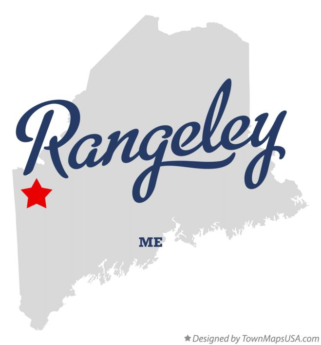 Map of Rangeley Maine ME