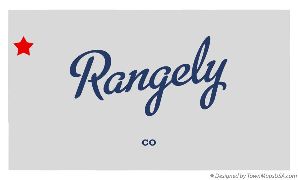 Map of Rangely Colorado CO