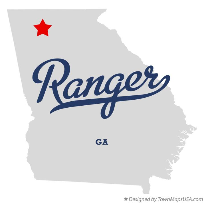 Map of Ranger Georgia GA