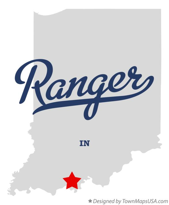 Map of Ranger Indiana IN