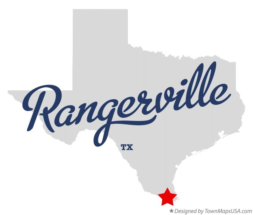 Map of Rangerville Texas TX