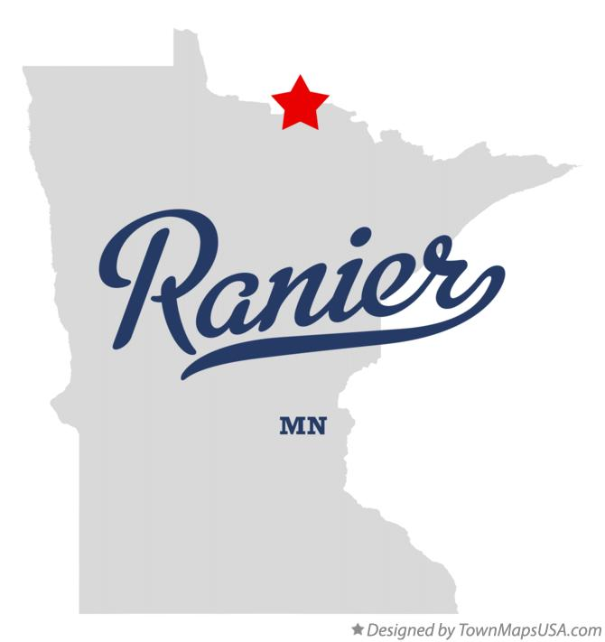 Map of Ranier Minnesota MN