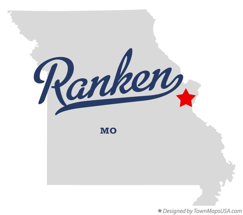 Map of Ranken Missouri MO