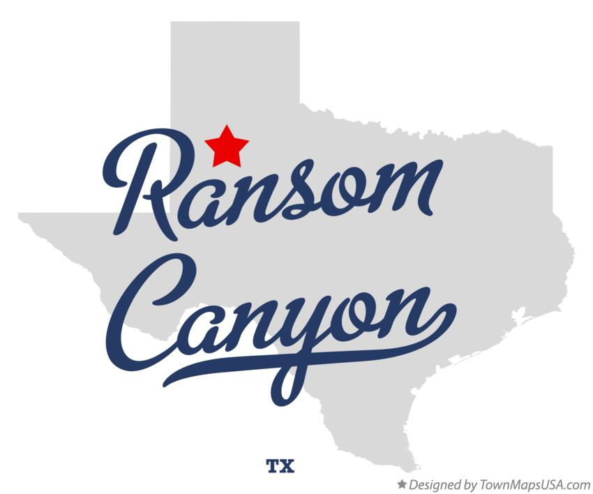 Map of Ransom Canyon Texas TX