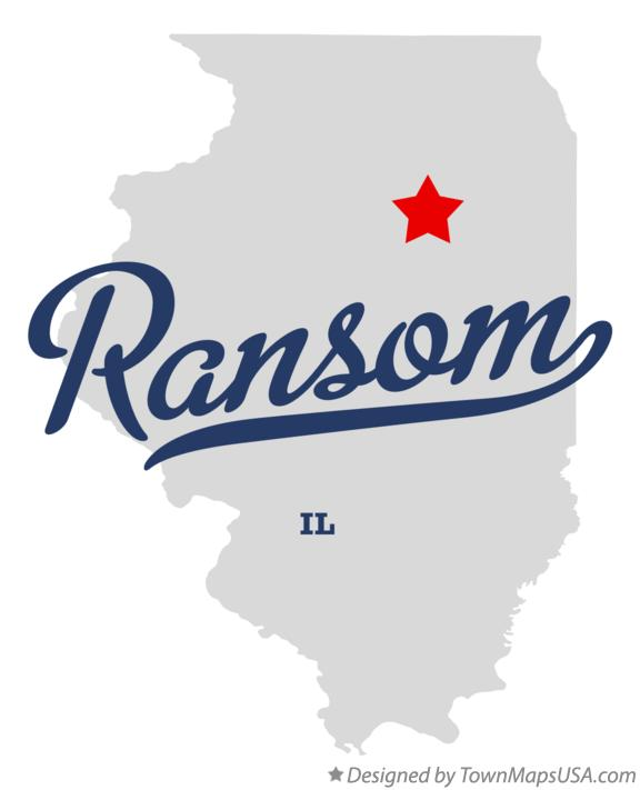 Map of Ransom Illinois IL