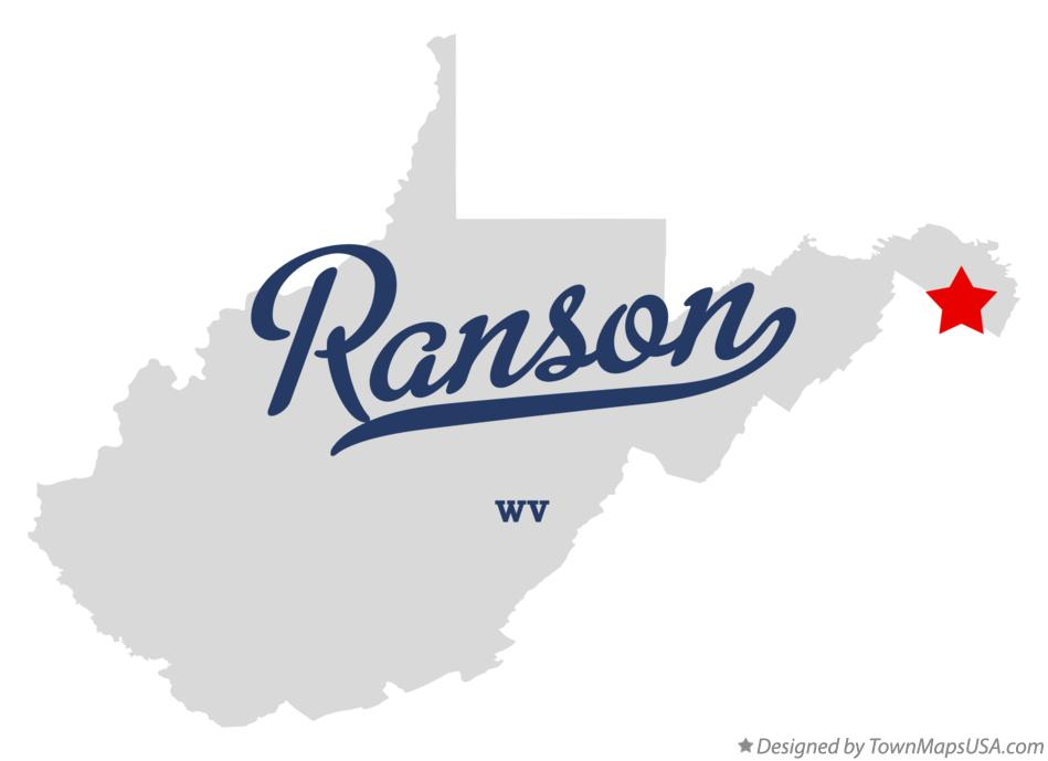 Map of Ranson West Virginia WV