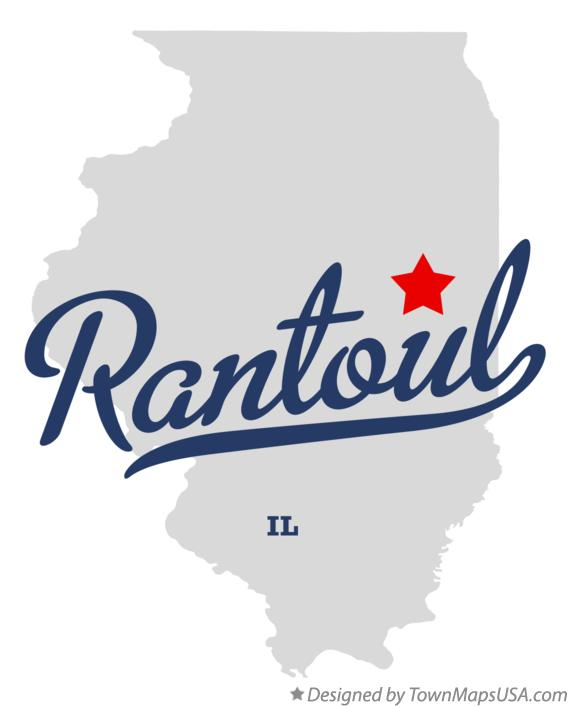 Map of Rantoul Illinois IL