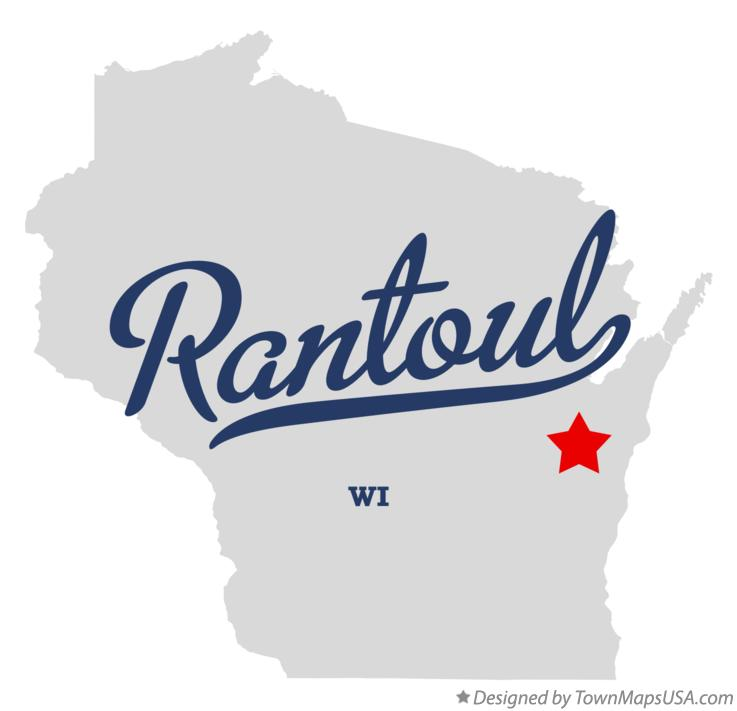 Map of Rantoul Wisconsin WI