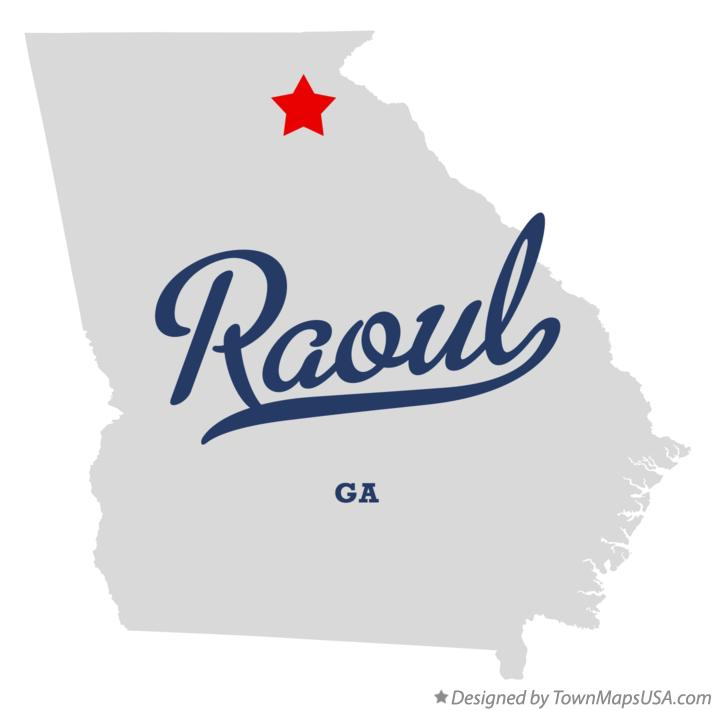 Map of Raoul Georgia GA