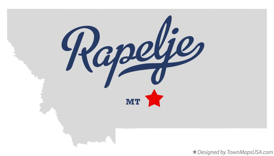 Map of Rapelje Montana MT