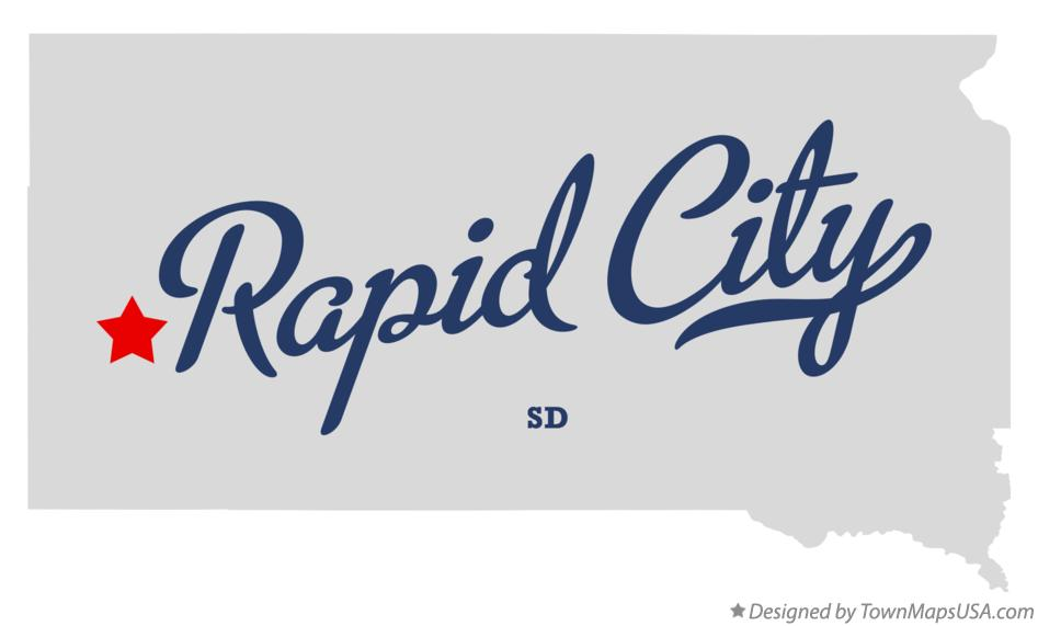 Map Of Rapid City Sd South Dakota