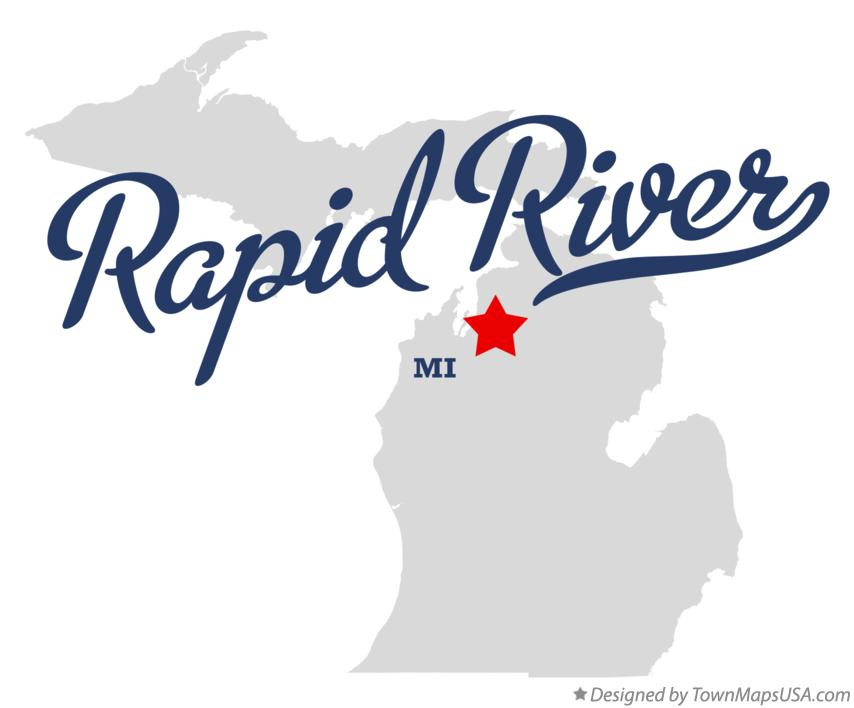 Map of Rapid River Michigan MI