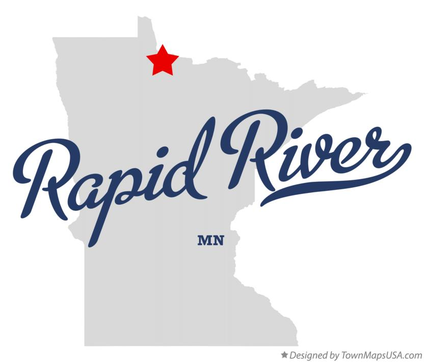 Map of Rapid River Minnesota MN