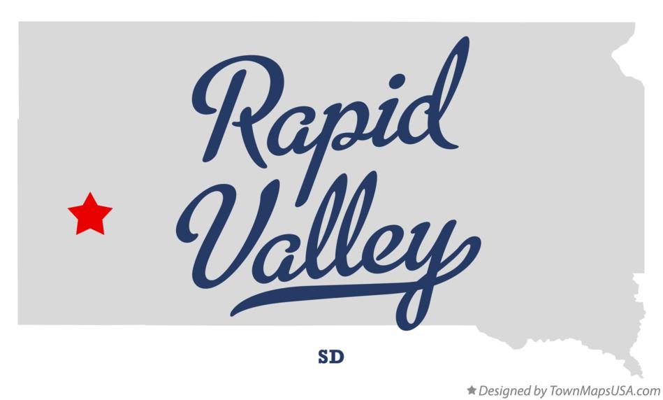 Map of Rapid Valley South Dakota SD